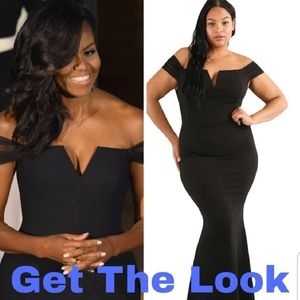 Dresses & Skirts - Plus Size Black fitted Formal Dress